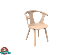 Miniature Inbetween Chair - andTradition in White Natural Versatile Plastic: 1:12