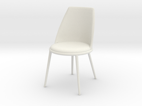 Miniature Aurora Chair - Cantori in White Natural Versatile Plastic: 1:12