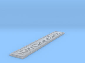 Nameplate HMS Campbeltown in Smoothest Fine Detail Plastic