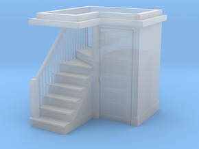 HO Scale staircase 2 in Smoothest Fine Detail Plastic