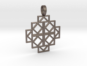 SQUARE DEALS in Polished Bronzed Silver Steel
