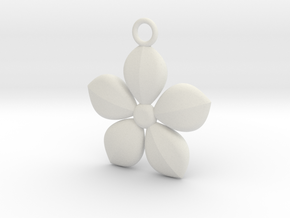 Plant necklace in White Natural Versatile Plastic