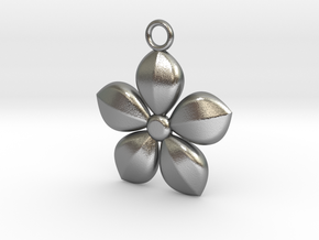 Plant necklace in Natural Silver