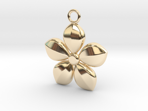 Plant necklace in 14K Yellow Gold
