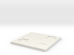 Coaster.stl in White Natural Versatile Plastic: Small