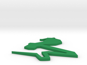 Snake chain in Green Processed Versatile Plastic: Medium