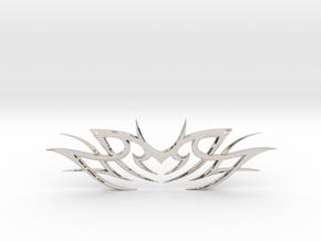 "Tribal ""Death essense"" Necklace in Rhodium Plated Brass"