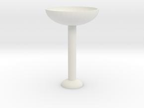 Glass Cup in White Natural Versatile Plastic: Medium