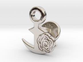 Cufflinks - Flower...Circle! in Platinum