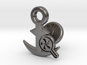 Cufflinks - Do your Rubesty! in Polished Nickel Steel