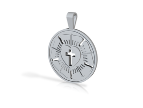 LUTHERAN ROSE in Polished Silver