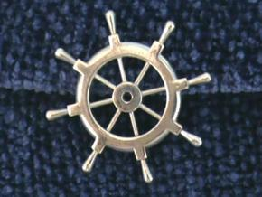 Captain's Wheel Pendant in Polished Silver