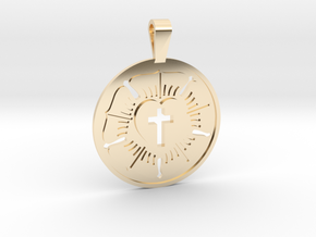 LUTHERAN ROSE in 14K Yellow Gold