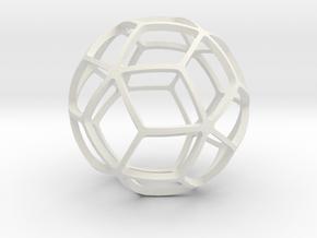 TRIACONTAHEDRON in White Natural Versatile Plastic