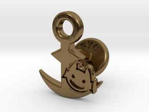 Cufflinks - Little Demon! in Polished Bronze