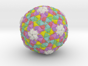 Bacteriophage PA6 in Full Color Sandstone