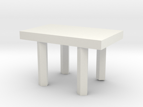 small desk in White Natural Versatile Plastic