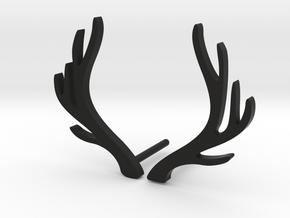 Antlers earrings in Black Natural Versatile Plastic