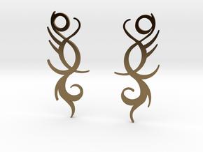 "Tribal ""Life Essence"" Earrings in Polished Bronze"