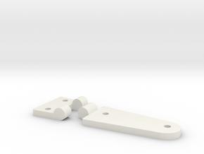 Rear door hinge D90 D110 Team Raffee in White Natural Versatile Plastic