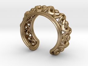 "Bracelet ""Wreath"" in Polished Gold Steel: Small"