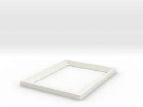 DIY 3.5''x2.5'' Frebird photo frame - Front in White Natural Versatile Plastic