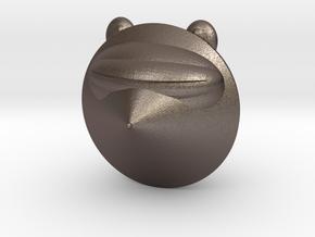 Laser Raccoon in Polished Bronzed Silver Steel: Medium