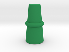 Top Hat Game Piece in Green Processed Versatile Plastic