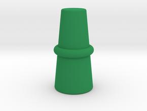 Top Hat Game Piece in Green Processed Versatile Plastic
