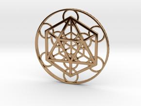 Metatron Cube - Icosahedron in Polished Brass
