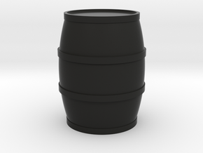 Round Barrel Game Piece in Black Natural Versatile Plastic