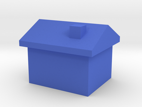 Standing House Game Piece in Blue Processed Versatile Plastic