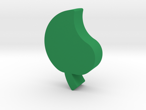 Leaf Game Piece in Green Processed Versatile Plastic