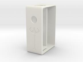 18650 Serpent Squonk Box in White Natural Versatile Plastic