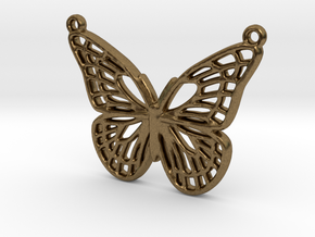 The butterfly in Natural Bronze