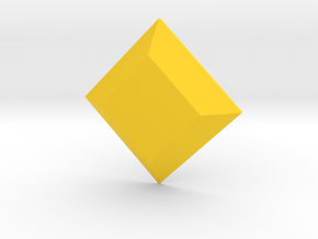 Trapezoid Gem in Yellow Processed Versatile Plastic