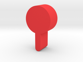 Lollipop Game Piece in Red Processed Versatile Plastic