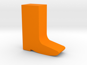 Boot Game Piece in Orange Processed Versatile Plastic