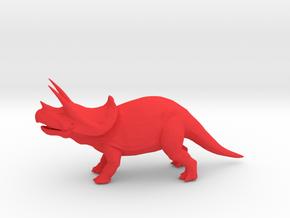 Triceratops in Red Processed Versatile Plastic
