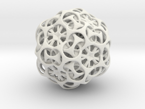 Dual-Ball in White Natural Versatile Plastic
