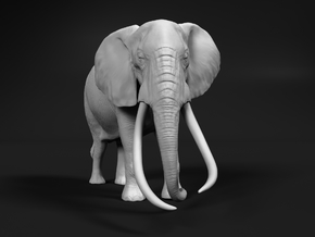 African Bush Elephant 1:76 Tusker Bull Satao in Smooth Fine Detail Plastic