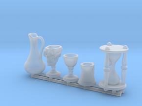 Drinkware: Skull Chalice and Hourglass -1:24 scale in Smooth Fine Detail Plastic