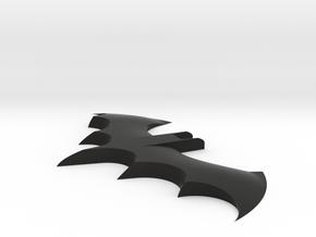 Shallow Bat in Black Natural Versatile Plastic