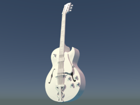 Gibson ES 175, Scale 1:6 in White Strong & Flexible Polished