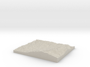 Model of Indian Boundary Lake in Natural Sandstone