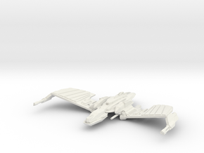 Klingon N''Thak Class  BattleCruiser  wings up in White Natural Versatile Plastic
