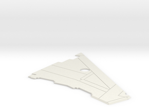 MTRM-11-RearWingCover-Left in White Natural Versatile Plastic