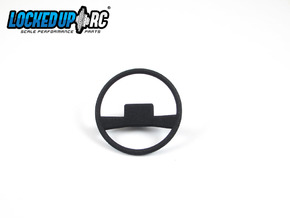 1:10 RC Truck Steering wheel 1 in Black Natural Versatile Plastic