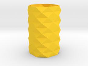 Pencil Holder in Yellow Processed Versatile Plastic