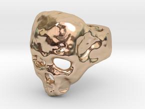 Skull Ring in 14k Rose Gold